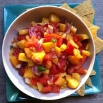 Fresh Peach, Mango and Nectarine Salsa recipe