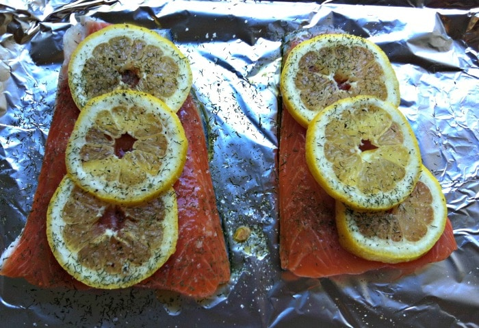 Salmon for Lemon Dill Salmon