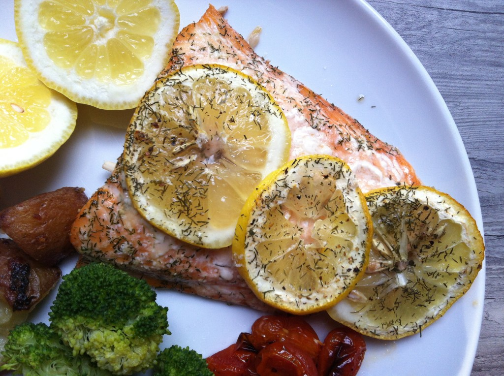plated Lemon Dill Salmon