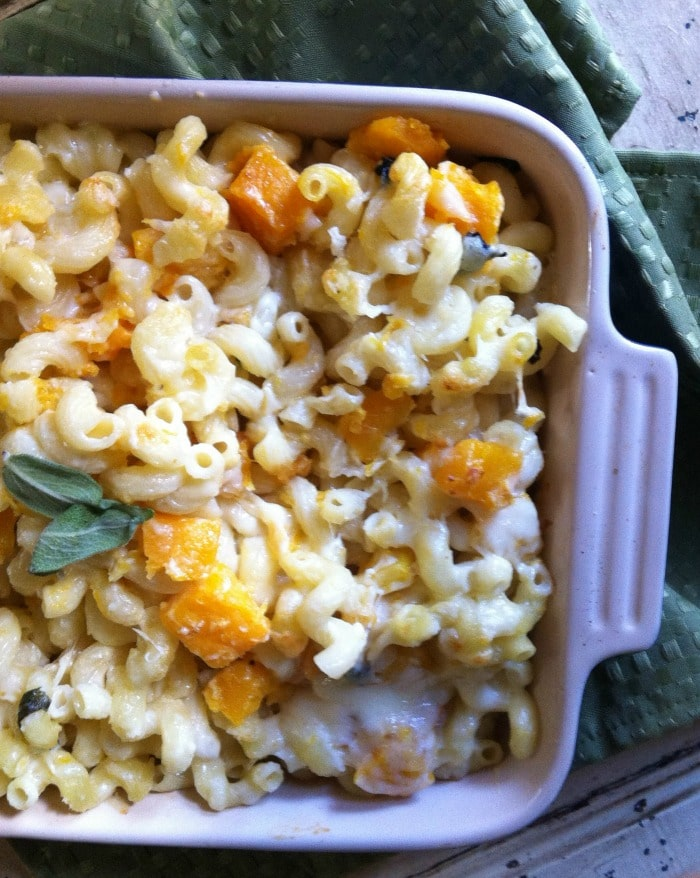 creamy Roasted Butternut Squash and Sage Mac & Cheese