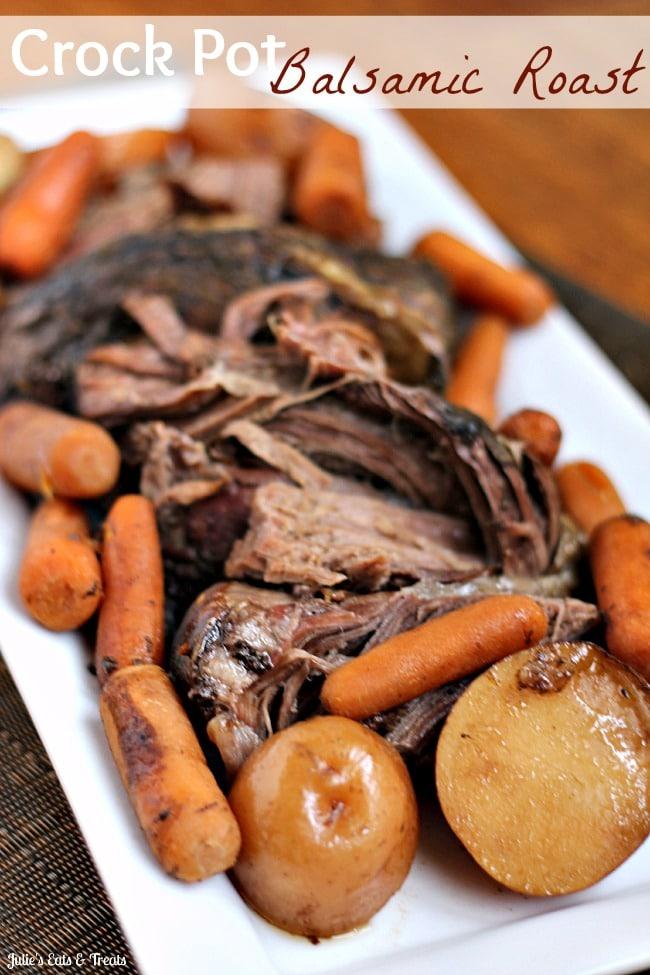 Crock-Pot-Balsamic-Roast - 35 Back to School Crockpot Recipes