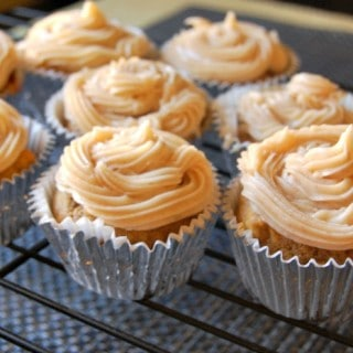 Pumpkin Cupcakes with Maple Cinnamon Cream Cheese Frosting - A Cedar Spoon