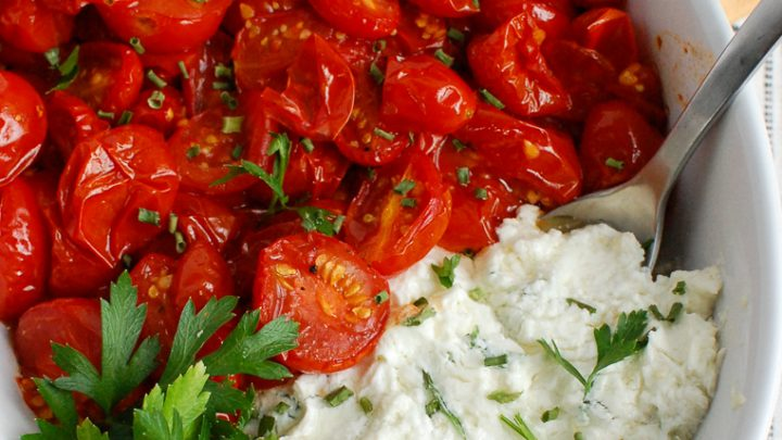 Goat Cheese Dip with parsley