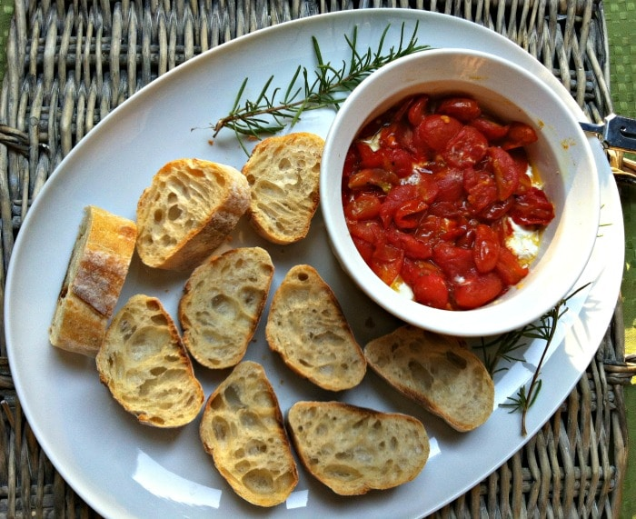 Roasted Tomato and Whipped Goat Cheese Spread appetizer