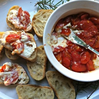 Roasted Tomato and Whipped Goat Cheese Spread
