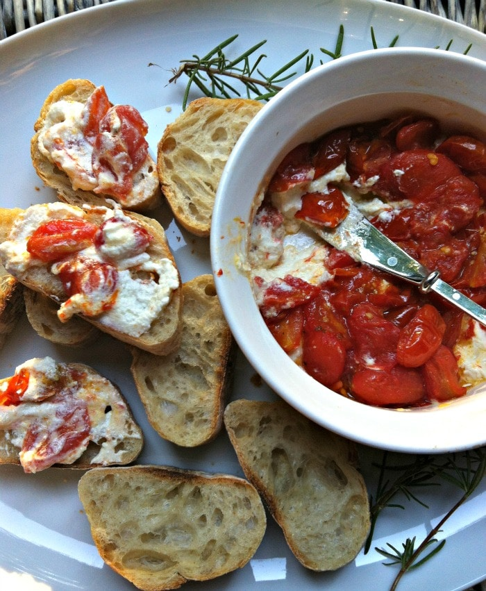 Roasted Tomato Spread - Roasted Tomato and Whipped Goat Cheese Spread