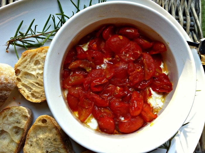 Roasted Tomato and Whipped Goat Cheese Spread - recipe