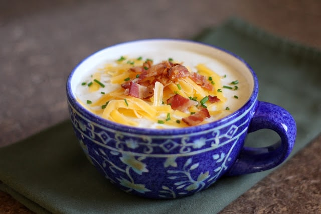baked potato soup - 35 Back to School Crockpot Recipes