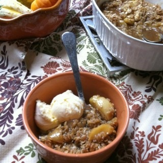 Apple Crisp recipe from A Cedar Spoon