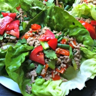 Thai Turkey Lettuce Wraps from A Cedar Spoon