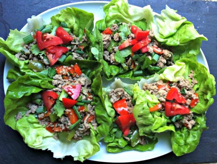 Thai Turkey Lettuce Wraps Recipe from A Cedar Spoon