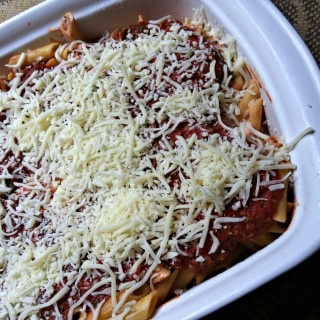 Baked Ziti Pasta from A Cedar Spoon