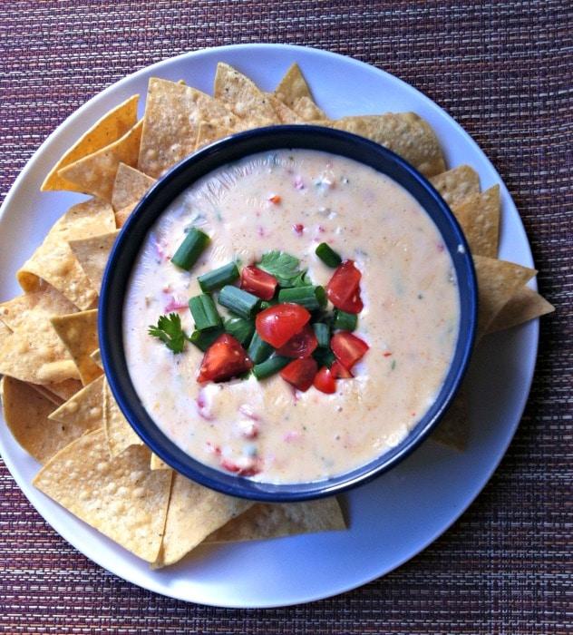 Queso Blanco Dip recipe from A Cedar Spoon