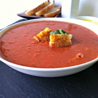 Tomato White Bean Soup + $50 Visa Gift Card Giveaway