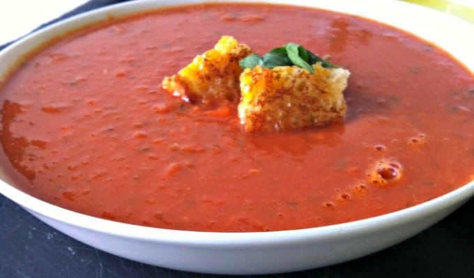 Tomato White Bean Soup + $50 Visa Gift Card Giveaway