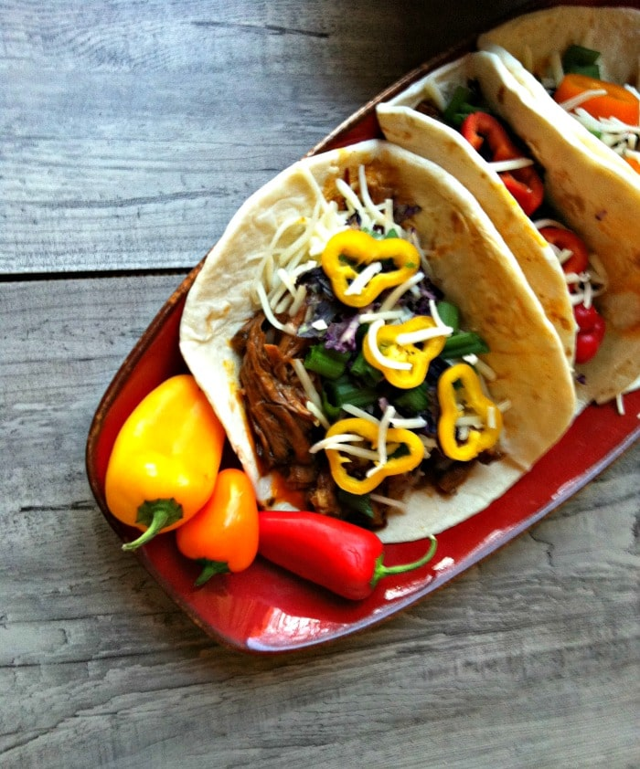 Slow Cooker Mexican Red Chili Tacos recipe