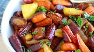 Honey, Balsamic Roasted Carrots