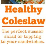 Healthy Coleslaw Collage