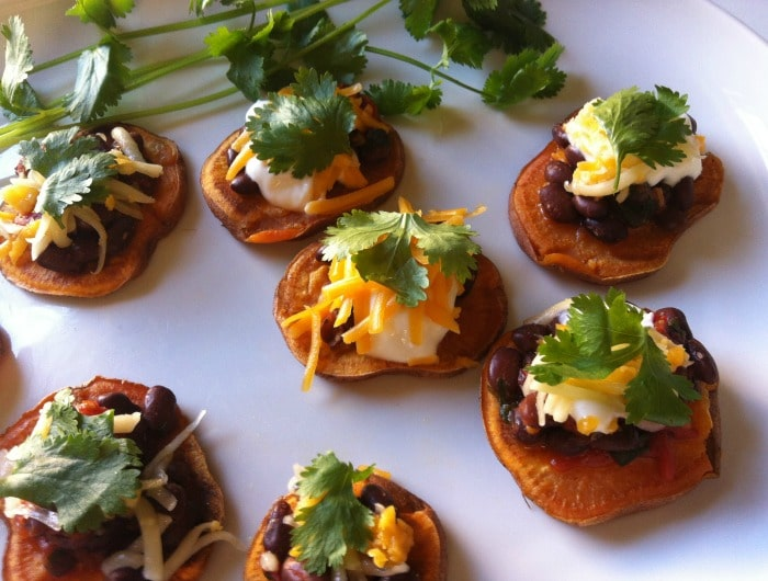 Southwestern Sweet Potato Rounds {A Virtual Shower for Stefanie!}