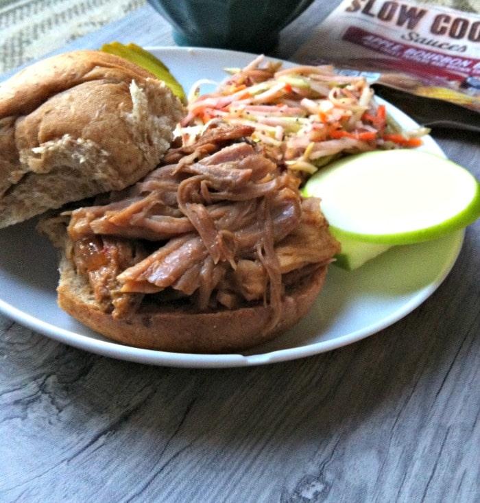 Apple Bourbon BBQ Pork Sandwiches