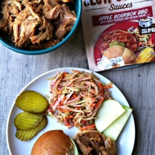 Slow Cooker Apple Bourbon BBQ Pork Sandwiches