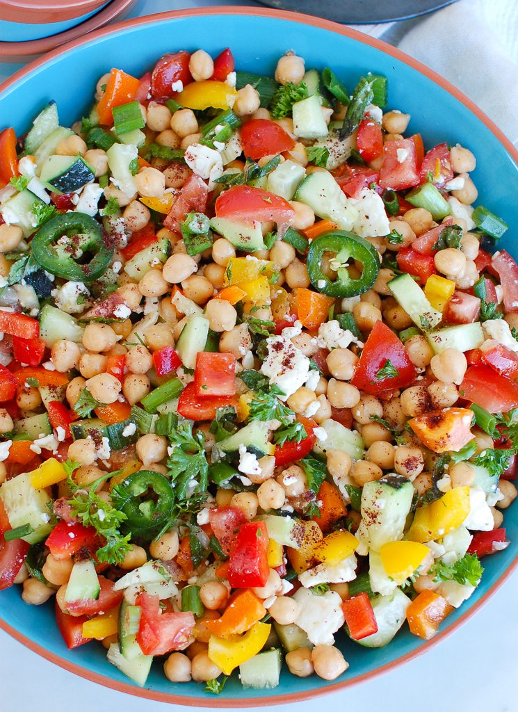 Chickpea Salad in bowl