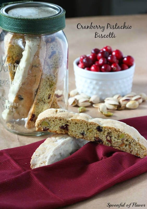 cranberry pistachio biscotti spoonful of flavor