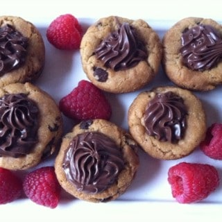 Gluten Free Nutella Chocolate Chip Cookie Cups