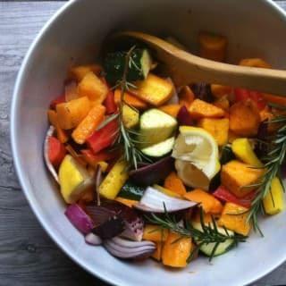 Rosemary and Lemon Roasted Vegetables