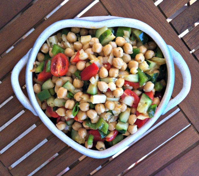 ... and a lemon cumin vinaigrette chickpea salad with cumin vinaigrette