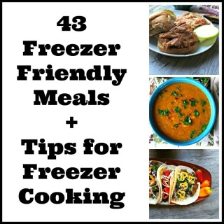 43 Freezer Friendly Recipes + Tips for Freezer Cooking
