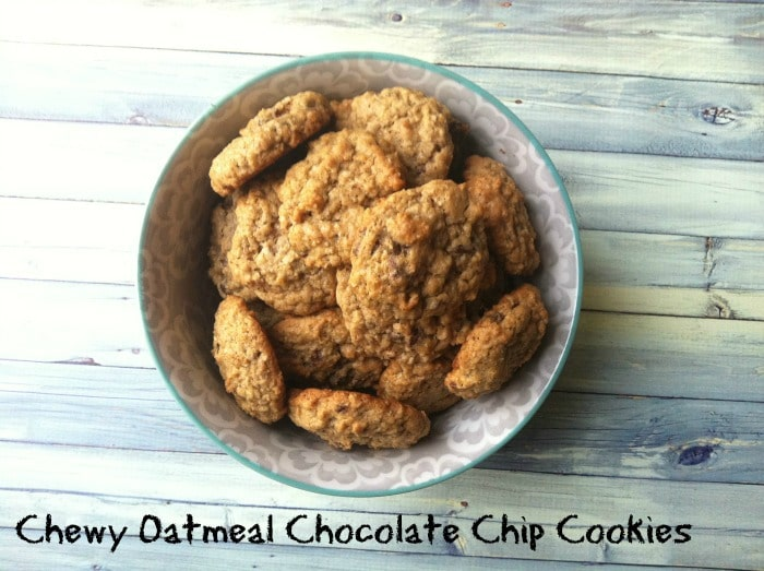 Chewy Oatmeal Chocolate Chip Cookies are a delicious chewy sweet treat ...