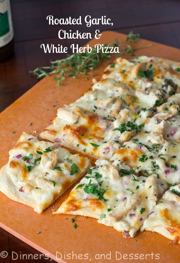 Roasted-Garlic-Chicken-and-Herb-White-Pizza