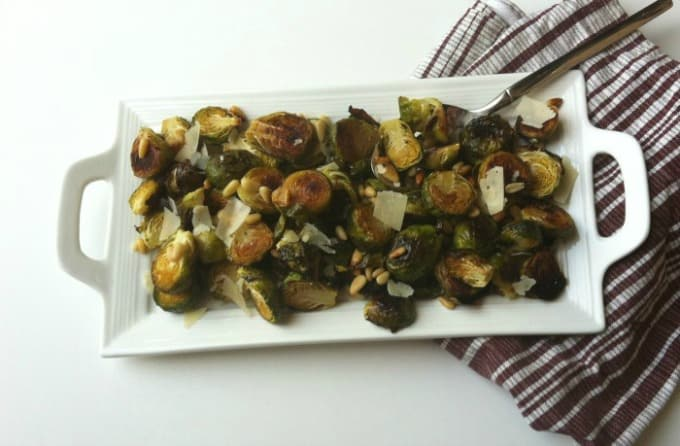 An easy side dish of Brussels Sprouts that are crispy on the outside ...