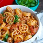 One Skillet Cheesy Hamburger Pasta