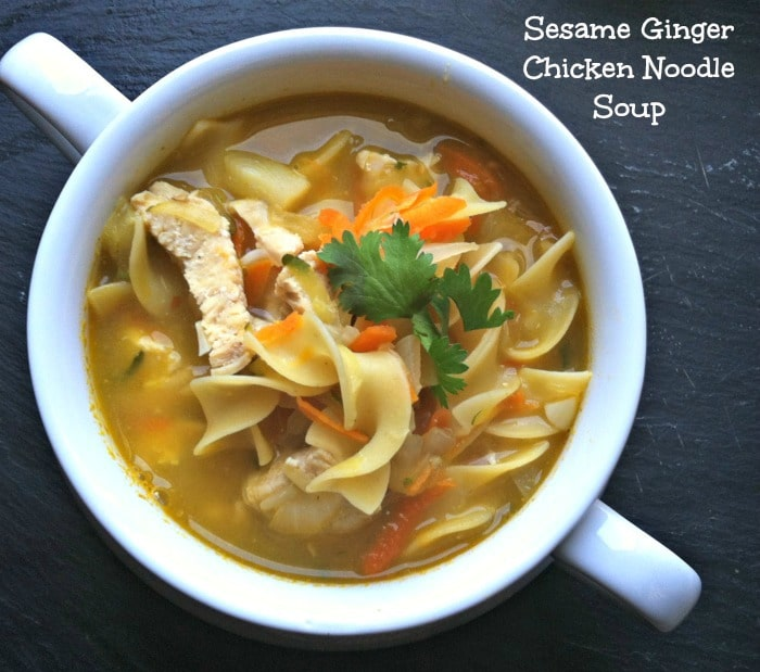 Sesame Ginger Chicken Noodle Soup 2
