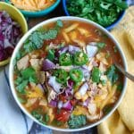 Slow Cooker Chicken Tortilla Soup is a quick and easy meal that you can put in your slow cooker and forget about. This soup is packed with flavor and could be a great addition to your next taco night.