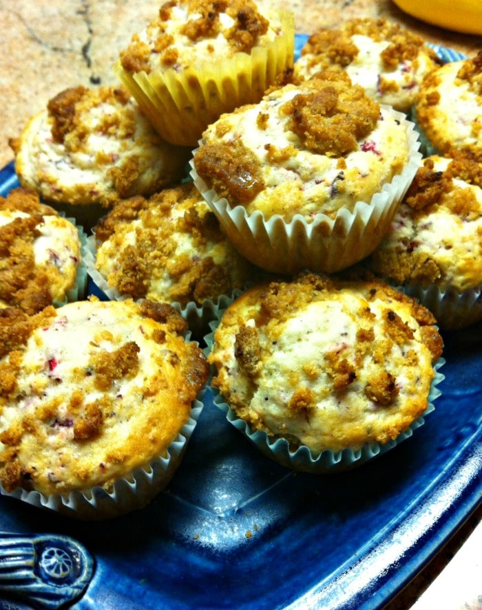 Cranberry Muffins with Cinnamon Struesel Topping