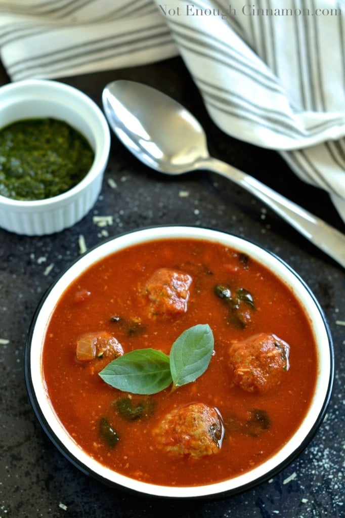 Italian Meatball Tomato Soup {Guest Post by Not Enough ...