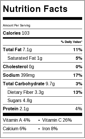 Lebanese Green Beans Nutritional Information