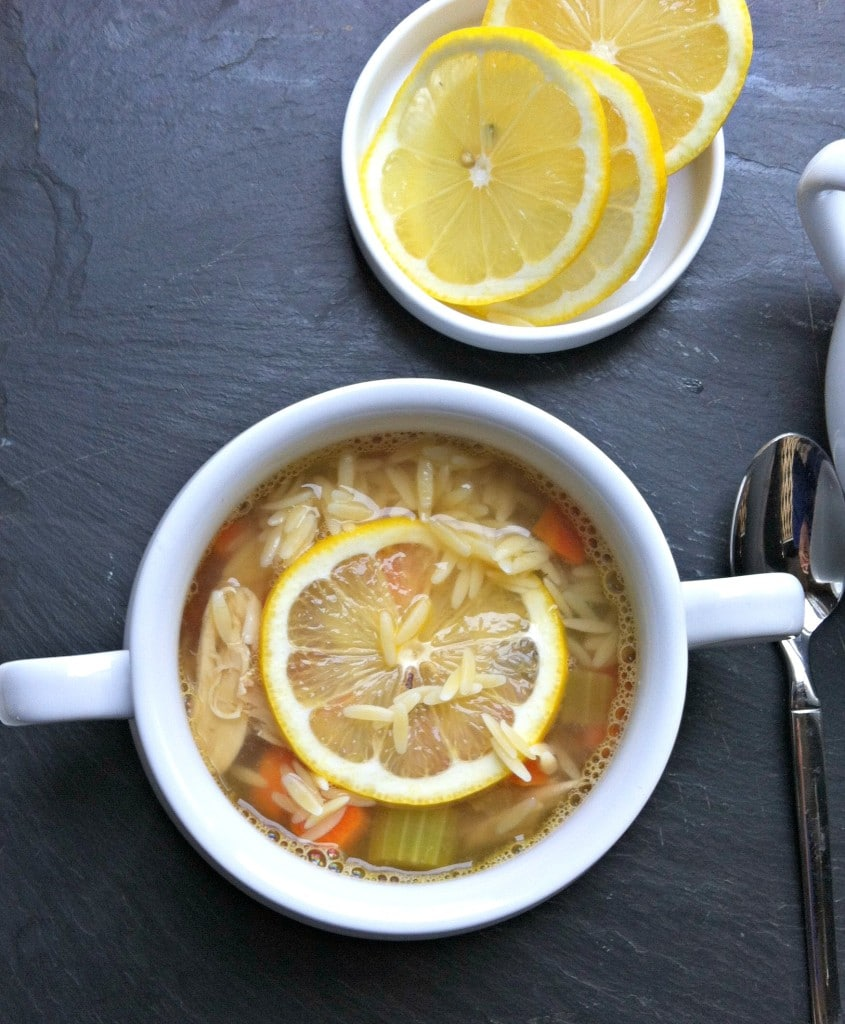 Lemon Chicken Orzo Soup // A Cedar Spoon