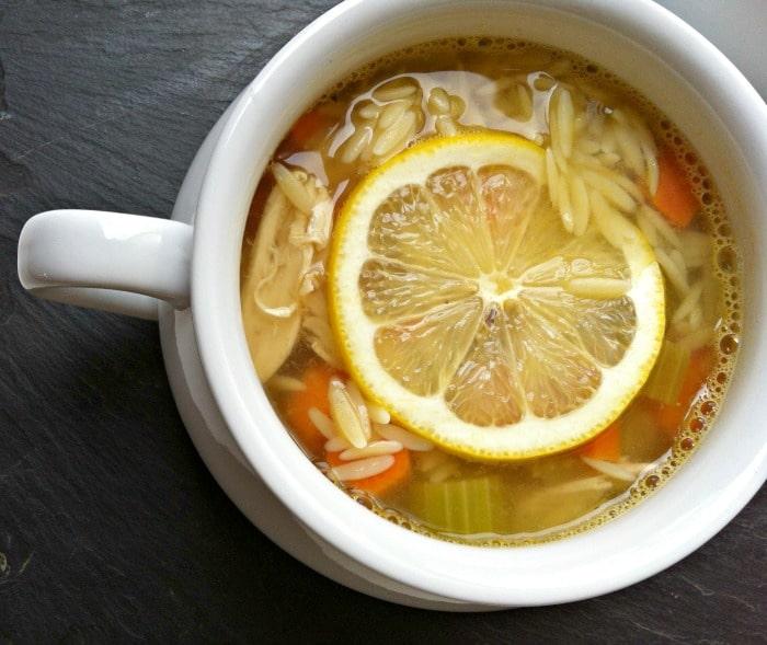 Lemon Chicken Orzo soup // A Cedar Spoon