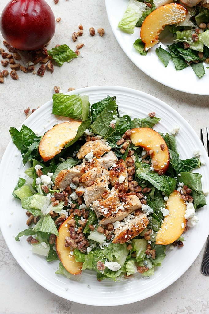 Chicken, Nectarine and Gorgonzola Salad