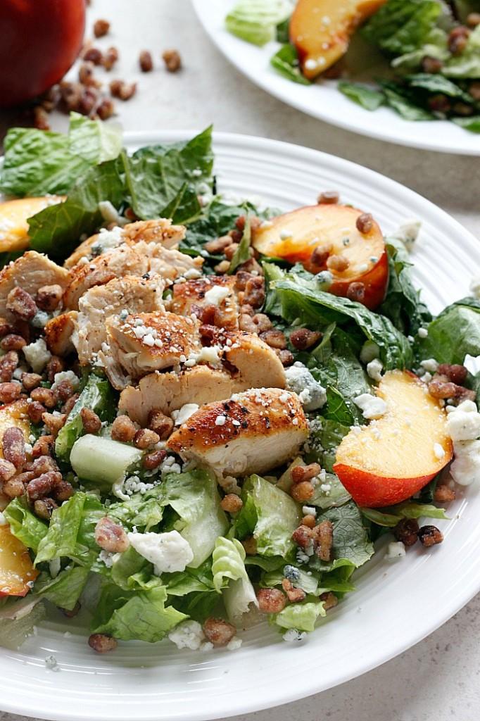 Chicken, Necatrine and Gorgonzola Salad