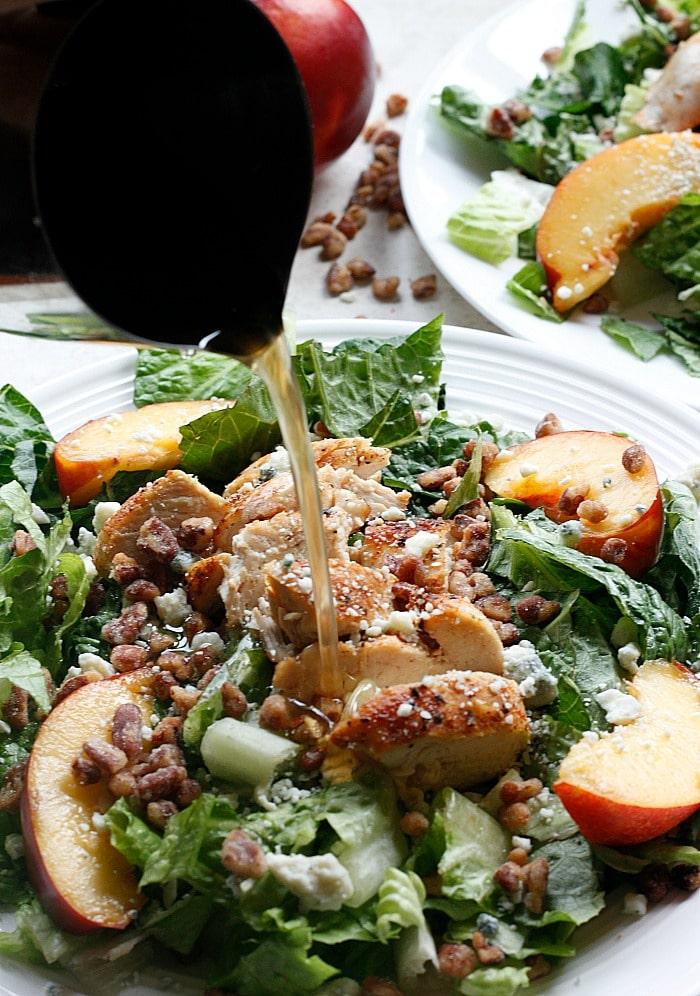 Chicken, Nectarine and Gorgonzola Salad