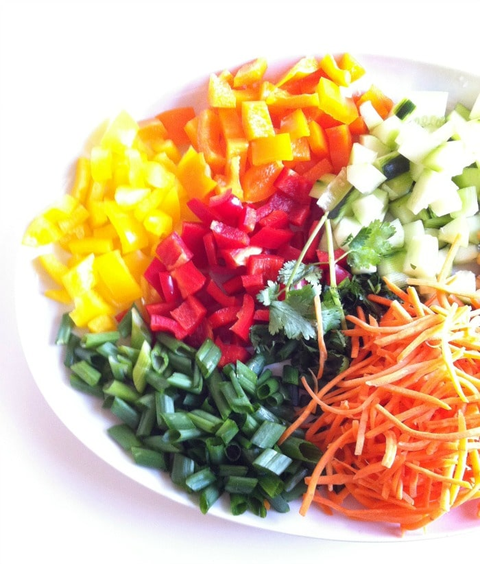 Rainbow Thai Coleslaw with Sweet Cilantro-Lime Dressing
