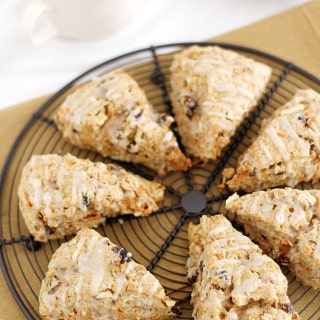 Morning Glory Scones on rack