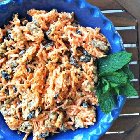 4 Ingredient Carrot Raisin Salad