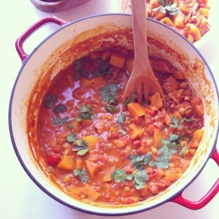 Butternut Squash Chickpea Coconut Curry