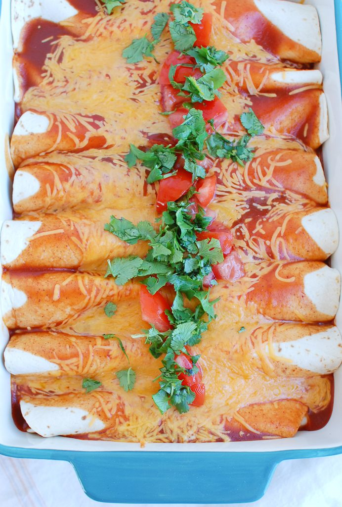 Chicken Enchiladas with tomatoes